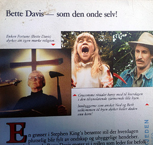 Omslagets bakside på Mørkets Øy, VHS. Foto: Sølve Friestad