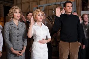 Jessica Biel, Scarlett Johansson og James Dárcy sverger at de ikke skal røpe noe om filmen Psycho.