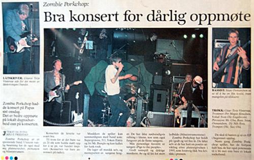 Faksimile fra Jærbladet - 16. mai 1997.
