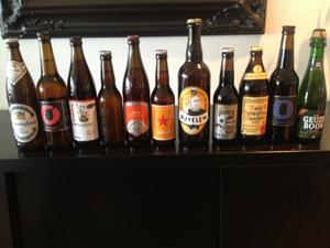 11 ølsorter minus 1 som ikke ble testet ut.