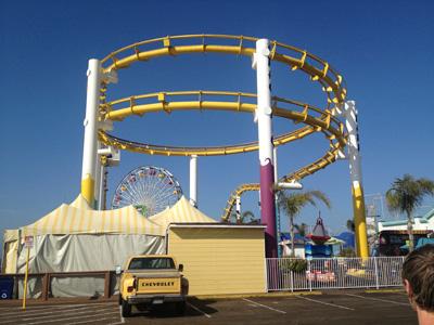 Santa Monica «in real life». Pariserhjulet i bakgrunnen overlever ikke haiangrepet. Foto: Sølve Friestad