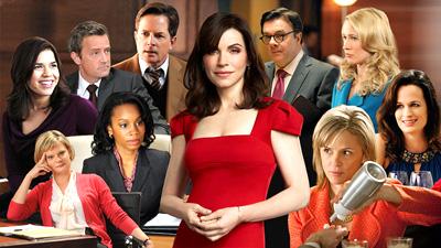 Julianna Marguiles med noen skuespillere som dukker opp i TV-serien.