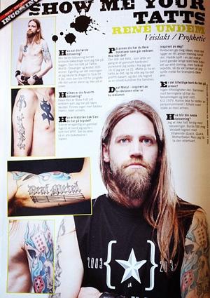 René Undem i Metal Hammer - juni 2014.