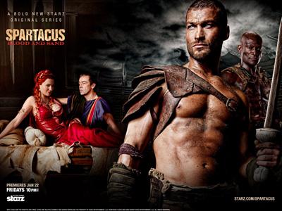 Andy Whitfield fra den første sesongen av Spartacus