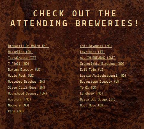 Fesivalarrangørene måtte fjerne denne listen over bryggere som kommer.