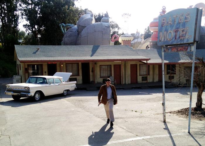 Utenfor Bates Motel - Universal Studio 2013. Foto: Sølve Friestad