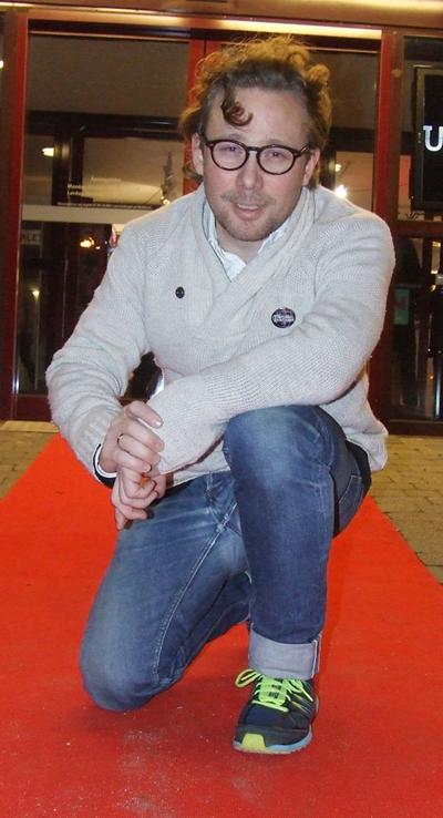 Regissør Leiv Igor Devol på premierevisning av Den Tilfeldige Rockestjernen på Bryne kino. Foto: Sølve Friestad