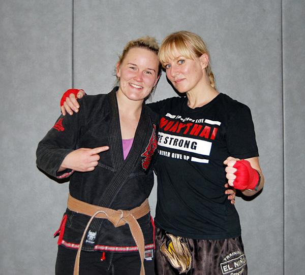 Katrine Alendal og europamester i Jiu Jitsu; Ida Fløisvik.