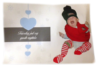 Alternativt julekort: Fant det første julekortet med Aurora - 2010. Spesielt de litt eldre syns dette var stas.