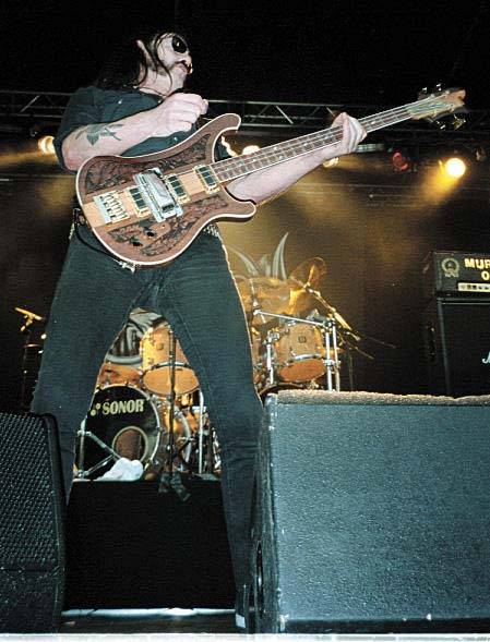 Lemmy Kilmister og Motorhead live på Folken i 1997 (eller 2005). Foto: Sølve Friestad.