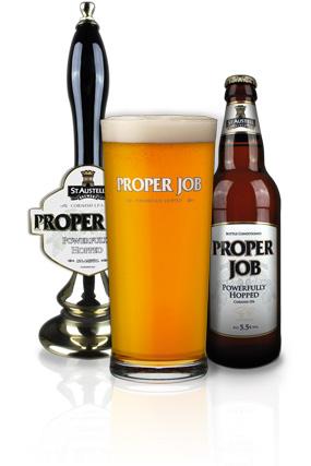 Proper Job er en mild og fin IPA som ble kåret til kveldens beste innkjøpte øl. Denne gjorde det også bra i fjorårets store IPA-test på scoopet.