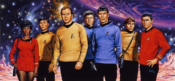 Skuespillerne i den første TV-serien fra 1966.